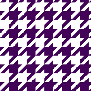 Houndstooth Check //Eggplant ((Medium))