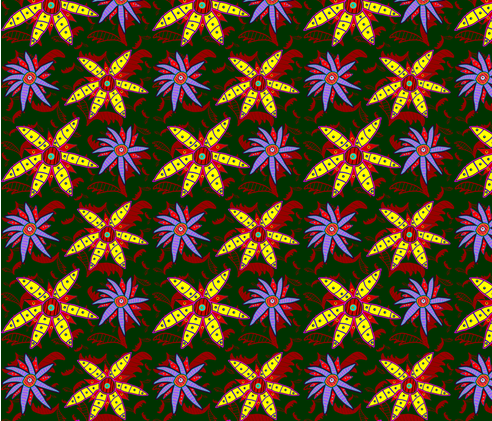 Project 3 flowers fabric by unique_avani on Spoonflower - custom fabric