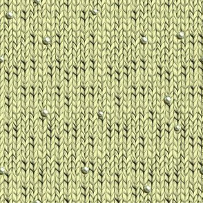 Yellow knitted fabric