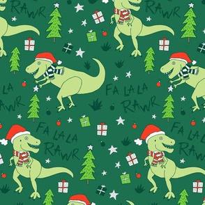 Fa La Rawr T-Rex Christmas Dinosaur