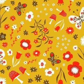 Jolly and Bright Retro Scandi Floral
