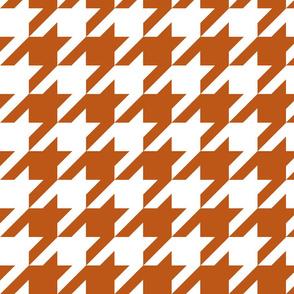 Houndstooth Check // Longhorn Burnt Orange ((Medium))