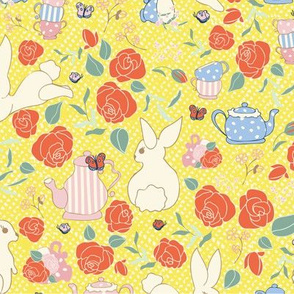 Yellow Bunny Tea Party