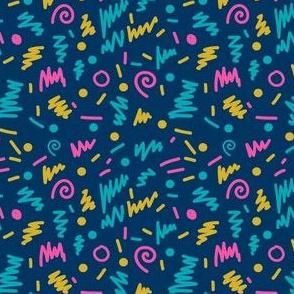 MINI - memphis 80s shapes rad edgy cool colors kids 90s