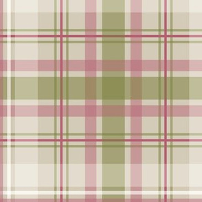 sage raspberry taupe plaid