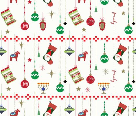 Christmas Everywhere fabric by lauren_mccrea on Spoonflower - custom fabric