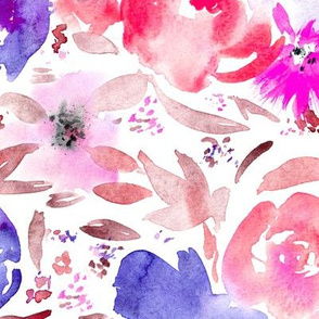 Blooming bouquet || watercolor floral pattern
