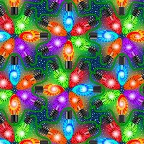 Tie Dye Holiday Lights at Night