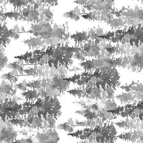 "8"" WOODLAND TREES GREY / 90 DEGREES"