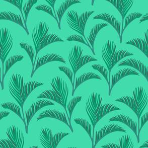 Paradise Jungle Ferns - Green