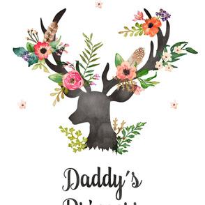 """27""""x36"""" Daddy's Princess / 2 to 1 Yard of Minky"""