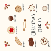 Christmas Cookies and Treats Tea Towel
