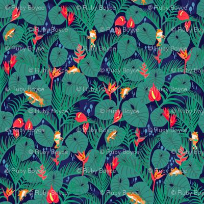 Vibrant Jungle Navy