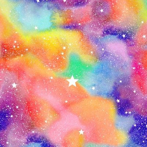 Watercolour #4 - Rainbow nebula