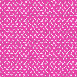 dot flower splash on bright pink