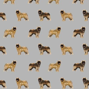 leonberger dog fabric // pet dog fabric, pet friendly fabric, dog breeds fabric, dog design, cute dog - grey
