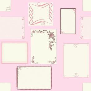 Antique Handkerchiefs on Petal Pink