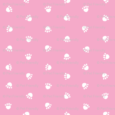 pink paw print, paw print fabric, dog paw, paw design, cute paws, cute dog, dog design - pink
