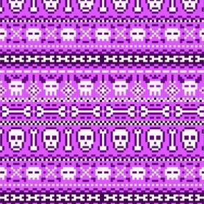 fair isle skulls purple
