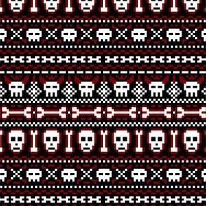 fair isle skulls