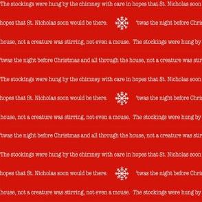 night before christmas fabric - christmas fabric, holiday fabric - white text