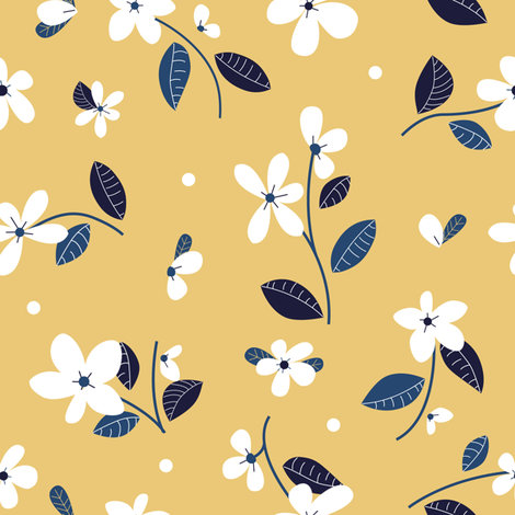 Little white flowers fabric by arcosbydesign on Spoonflower - custom fabric