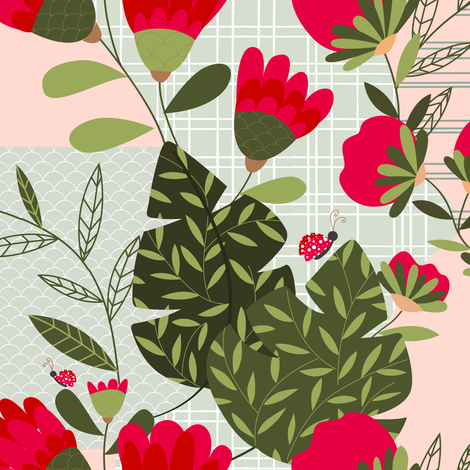 Find the Ladybugs  fabric by arcosbydesign on Spoonflower - custom fabric