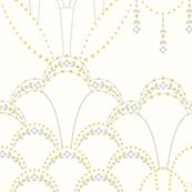 Deco lace ivory extra large