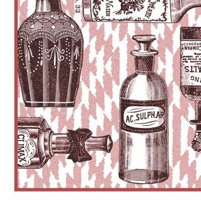 Mousehaus Vintage Bottles Tea Towel