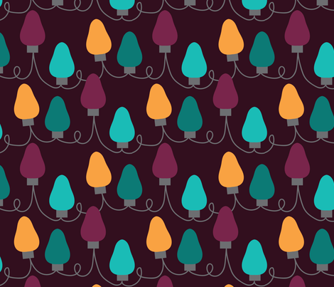HOLIDAY LIGHTS fabric by veritas_design on Spoonflower - custom fabric