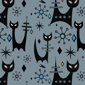 Sleek Space Age Black Cats