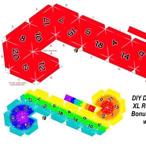 DIY XL D20 dice Plushy/bag Red