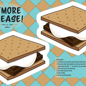S'more Please - Cut and Sew Pillow