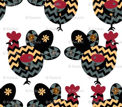 Scandinavian Chicken Design Inspired by Hawaiian  Rooster