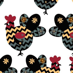 Scandinavian Chicken Design Inspired by Hawaiian  Rooster
