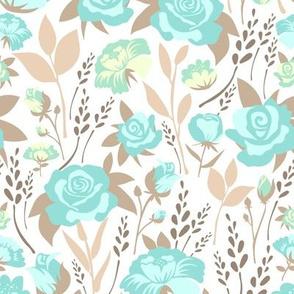 Hand-Drawn Spring Flower Pastel Teal-01