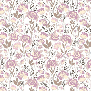 Spring Blossom Floral Pastel Purple