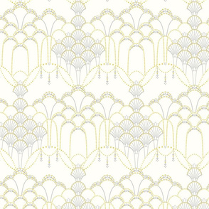 Deco Lace ivory small