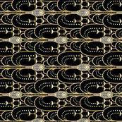 1920s Champagne Fountain black tea towel
