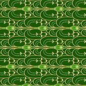1920s Champagne Fountain green tea towel