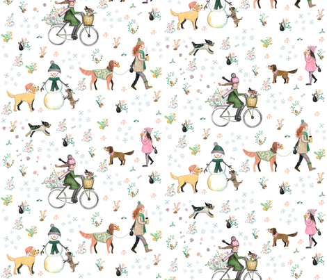 winter walkies fabric by pickle_&_grubb_ on Spoonflower - custom fabric