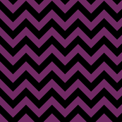 Byzantium Deep Purple Violet Black Color Chevron Zig Zag Pattern