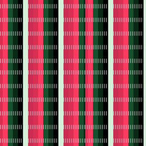 Holiday Red and Green Stripes