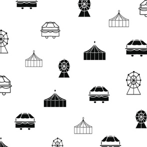 Black and White Carnival Pattern