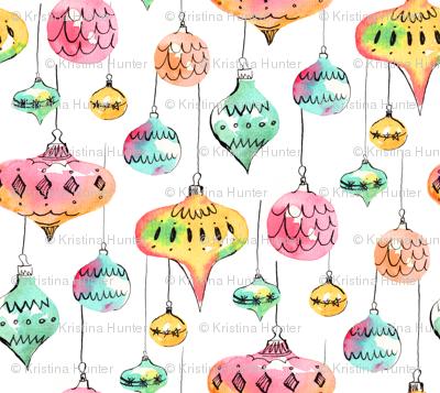 Watercolor Christmas Ornaments