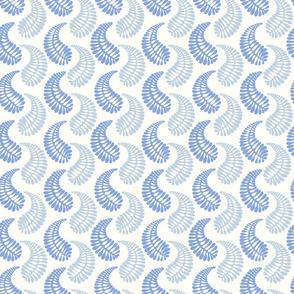 blue organic shapes