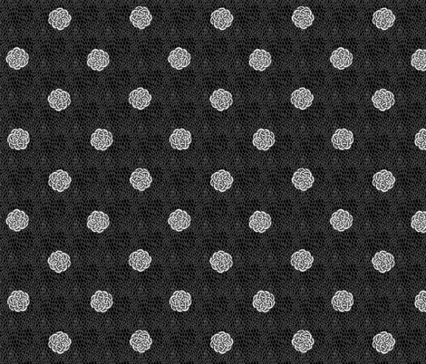 Fairy Dots and Dragon Scales - B&W fabric by glimmericks on Spoonflower - custom fabric