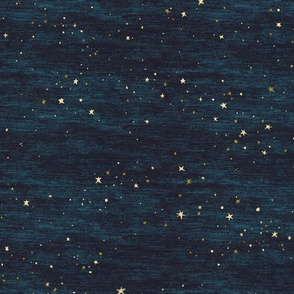 Night Sky Stars Midnight Blue