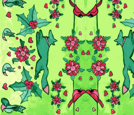 Vixen Festive fabric by vixenadventure on Spoonflower - custom fabric