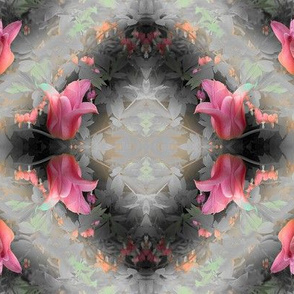 Abstract Floral Wreath Pattern